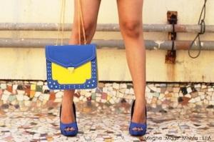 Blue heels @ Preciosa - 1900 | Yellow-Blue satchel @ Preciosa - 1800
