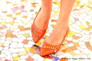 Orange kitten heels @ Preciosa - 1500