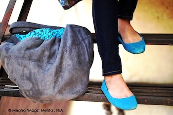 Pumps - Colaba Causeway, Jeans - Outfits, Bag - Inkberri.