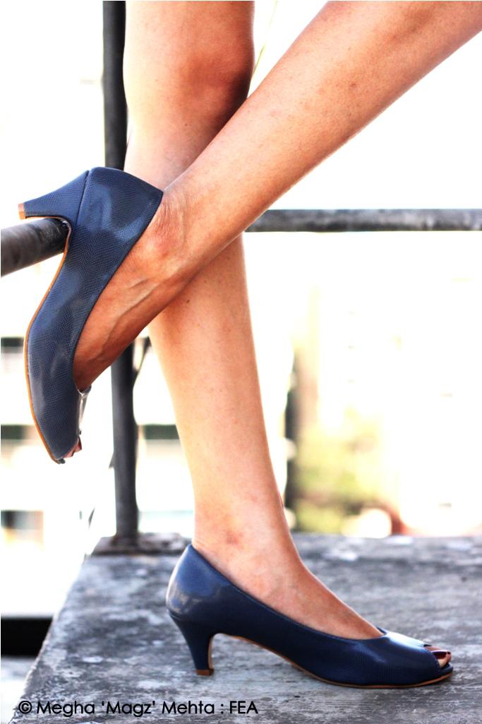 Grey peep toe kitten heels - Dina's own