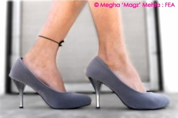 Grey medium sized heels - From my own collection