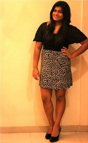 Simran Mehta looks OhSoCute&Bubbly in this leopard-marries-lace dress