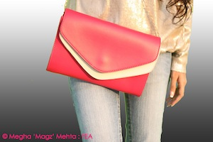 My pink sling clutch